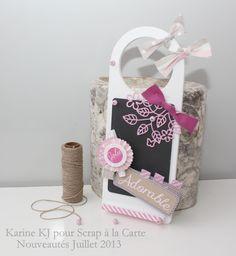 Karine KJ pour Scrap à la Carte - Set de 3 dies Adorable et Plaque florale ouvragée