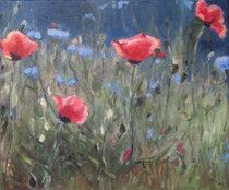 """Saatchi Art is pleased to offer the painting, """"Roter Mohn,"""" by Ellen Fasthuber-Huemer. Original Painting: Oil on Canvas. Size is 0 H x 0 W x 0 in. Oil On Canvas, Saatchi Art, Original Paintings, The Originals, Artist, Flowers, Plants, Projects To Try, S Pic"""