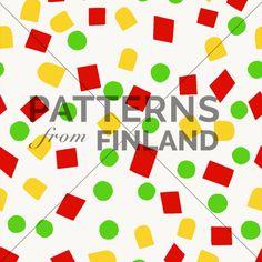 Onnenpäivä – Herne Maissi Paprika by Maria Tolvanen  #patternsfromagency #patternsfromfinland #pattern #patterndesign #surfacedesign #printdesign #mariatolvanen