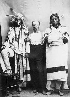 Thomas W Ireland and 2 Cree Men 1885
