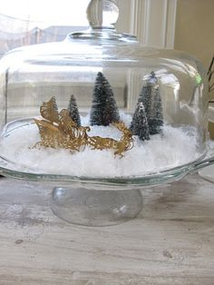 {Primp}: white christmas mantel, bleaching bottle brush trees, and a quick Christmas home tour