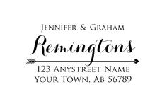 Personalized Custom Made Handle Mounted or Self Inking Return Address Rubber Stamps R289