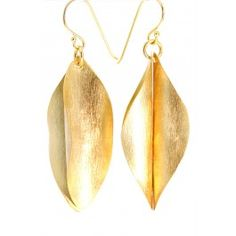 Gold Earrings African Style Curl $49.99 pembaboutique.com