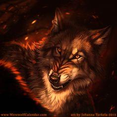 Confrontation - Werewolf Calendar by Lhuin.deviantart.com on @DeviantArt