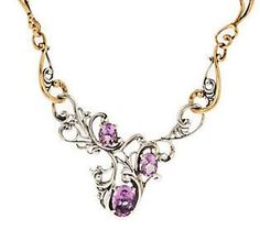Carolyn Pollack Harmony Faceted Sterling/Brass Gemstone Necklace