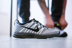 Nike Flyknit Lunar 1+ White/Black-Dark Grey-Volt