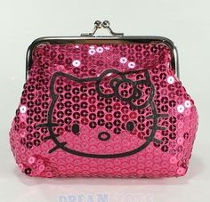 Hello Kitty Pink Sparkle Dazzled Kiss Lock Sequin Coin Wallet Purse by Sanrio. $14.95. Hello Kitty Pink Sparkle Dazzled Kiss Lock Sequin Coin Wallet Purse