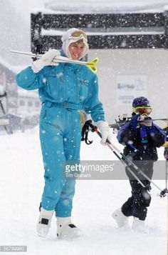 Diana & Harry Skiing In Lech Pictures