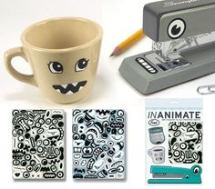 Stickers for inanimate objects.