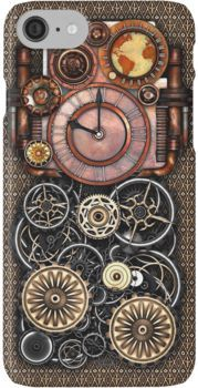 Infernal Steampunk Timepiece #2 Vintage Steampunk phone cases iPhone 7 Cases