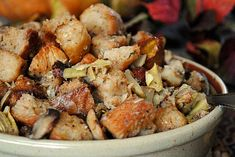 The Best Stuffing Recipes For Thanksgiving Dinner Best Stuffing Recipe, Stuffing Recipes For Thanksgiving, Thanksgiving Side Dishes, Holiday Recipes, Holiday Ideas, Family Thanksgiving, Side Dish Recipes, Artichoke, Cooking Recipes