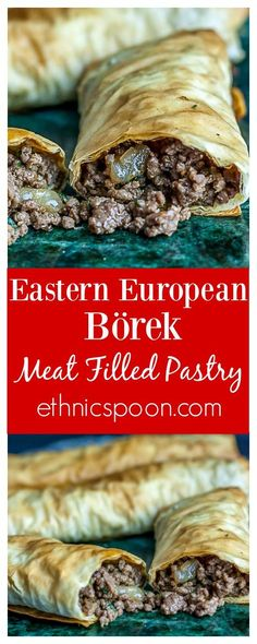 You will love Burek or Börek as it is called. Burek is extremely versatile as it can be made with various fillings. The most common being meat (lamb is usually the choice) with onions, or feta and spinach. These are the fillings found most in Slavic cuisine. Now, my Turkish friend and co-worker Selin tells me that in Turkey the most common filling is feta with parsley. The dough is also different in Turkey; it is called yufka and is not as thin as phyllo. | ethnicspoon.com