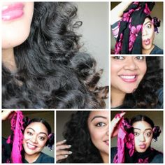 NO HEAT CURLS- Overnight, no pins, ties, or clips! Using a LavaLava aka sarong OR you can use a Scarf!