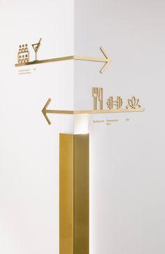 Hotel in Mannheim von Blocher Partners via AIT – Deco Design, Cafe Design, Store Design, Design Design, Hotel Signage, Office Signage, Shop Signage, Directional Signage, Wayfinding Signs