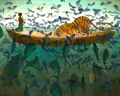 Battle Of The Minds - Life Of Pi illustrations by Andrea Offermann