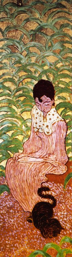 The Athenaeum - Woman in the Garden (panel 2) (Pierre Bonnard - )