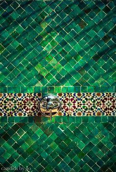 Tiles, Fez, Morocco