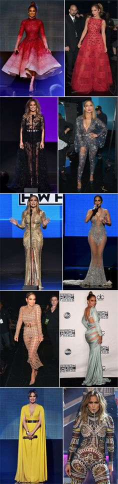 * See all 10 gorgeous dresses and outfits Jennifer Lopez wore to host the 2015 American Music Awards // Fashionismo