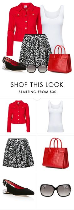 """""""Untitled #1483"""" by gallant81 ❤ liked on Polyvore featuring Vero Moda, Boody, DKNY, Yves Saint Laurent, Stuart Weitzman and Gucci"""