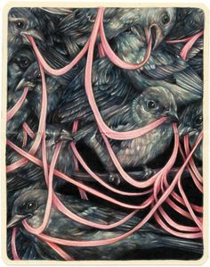 """The Square II"" 2014, colored pencils on moleskine paper, cm 18x14"