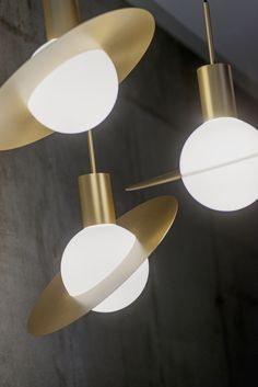 """Saturne"" ceiling lights design by Herve Langlais 2014"