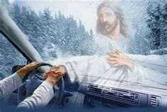 "Reminds me of Carrie Underwood's song...""Jesus take the Wheel""..."