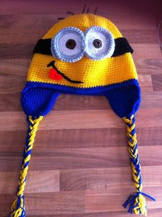 You have to see Crochet minion hat on Craftsy! - Looking for crocheting project inspiration? Check out Crochet minion hat by member karen493. - via @Craftsy