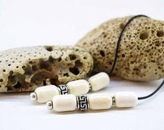 Begleri, Camel Bone, Greek Meander Design Beads, Worry Beads, Camel Bone Begleri, Mini Komboloi, Black Paracord, Anti stress Greek Begleri Anti Stress, Paracord, Camel, Greek, Beads, Mini, Bracelets, Inspiration, Design