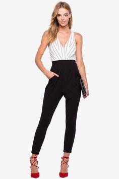 Power Stripe Jumpsuit