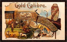 Gold Calibre cigar box label