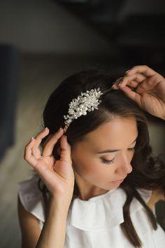 Bridal Headband Wedding Headband Crystal Headband by LikaBridal