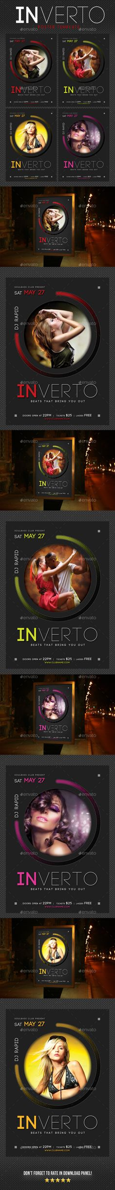 Inverto Music Poster 3 - Signage Print Templates