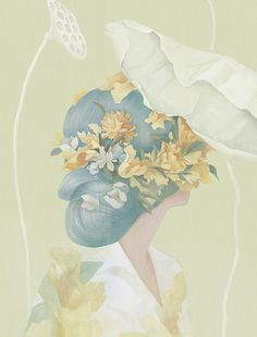 Beautiful Portraits of Women and Flowers by Hsiao-Ron Cheng