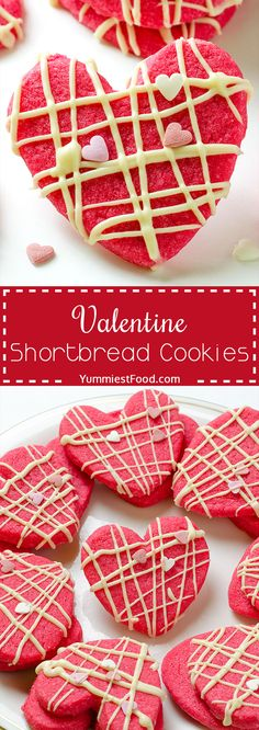 Valentine Shortbread Cookies – It is Valentine's day, so let it be Sweet Dreams magical and romantic! Make these delicious Valentine Shortbread Cookies and spend perfect moments with your partner! Valentine Desserts, Valentines Day Cookies, Valentines Baking, Valentine Treats, Köstliche Desserts, Shortbread Cookies, Delicious Desserts, Dessert Recipes, Pastries