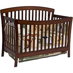 @Overstock - Let your baby sleep in style with the functional crib with toddler rail. The bed converts to a toddler bed and a full-sized bed as your baby grows, and it has a non-toxic finish that is safe for your child. It makes an excellent gift for a new parent.http://www.overstock.com/Home-Garden/DaVinci-Rivington-4-in-1-Crib-with-Toddler-Rail-in-Coffee/4349557/product.html?CID=214117 $219.00
