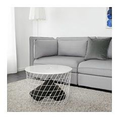 IKEA - KVISTBRO, Storage table, turquoise, , You can store everything from throws and pillows to newspapers and yarn in the basket - or leave it empty to give an Furniture, Table Storage, Sectional Couch, Small Living, Wellness Design, Ikea, Coffee Table, Home Furnishings, Ceiling Storage