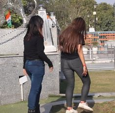 209. Two Desi Girls Fighting In The Park Hair Lengthening, Girl Back, Girl Fights, Bodysuit Fashion, College Girls, Indian Beauty, Desi, Leather Pants, Park
