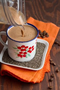 Rocket Fuel Cafe Mocha with Chia Seeds   Healthful Pursuit  Gonna try this with Traditional Medicinals Egyptian Licorice Herbal Tea #paleo