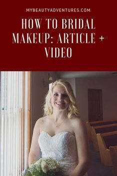 I uploaded my first how to video to mybeautyadventures.com.  I go through step by step and explain how to do your own gorgeous wedding makeup.    #beauty, #makeup, #fashion, #wedding, #bridal, #style, #mybeautyadventures