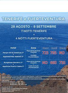 JLAND TRAVEL: SPECIALE 11 NOTTI TENERIFE+FUERTEVENTURA 28 AGOSTO...