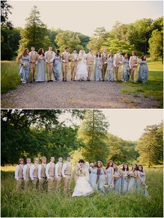 I love the bridesmaids dresses and the groomsmen's suits  Garden party wedding by Kristin Partin Photography 11