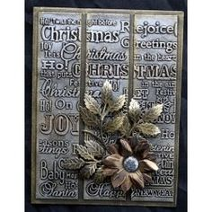 Christmas embossing folders & stamps 2015 - Crafter's Companion Portfolio