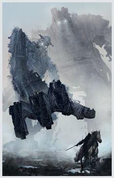 Shadow of the Colossus Colossus, Gediminas Skyrius on ArtStation at https://www.artstation.com/artwork/shadow-of-the-colossus-colossus