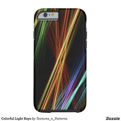 Colorful Light Rays Tough iPhone 6 Case  #colorful #lines #rays #light #pattern #abstract #night #irrlichter #stripes #colourful #streaks #fractal #fractals #streak #rainbow #colors #iphonecase