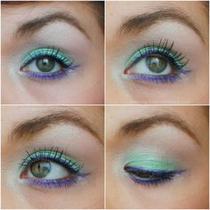 Get the Look: The Little Mermaid inspired Younique pigments: heavenly and regal and of course 3D fiber lashes http://www.youniqueexpressionsbyholly.com