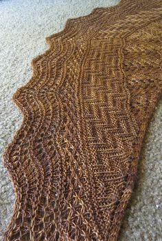 Geology Shawl. I quite like the woven pattern, especially in such an earthy color.