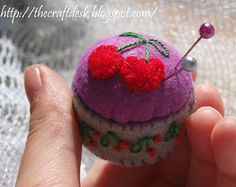 Miniature pincushion CACTUS 100% wool felt by TheCraftDeskShop
