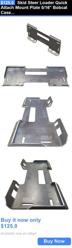 heavy equipment: Skid Steer Loader Quick Attach Mount Plate 5/16 Bobcat Case John Deere Asv BUY IT NOW ONLY: $125.0 #priceabateheavyequipment OR #priceabate