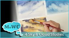 I paint 4 quick watercolor sky and cloud studies to brush up on my sky painting techniques. Landscape studies are a great way to test techniques, solve probl...
