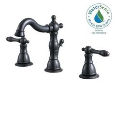 Glacier Bay Lyndhurst 8 in. Widespread 2-Handle High-Arc Bathroom Faucet in Heritage Bronze - 67277W-8096H - The Home Depot